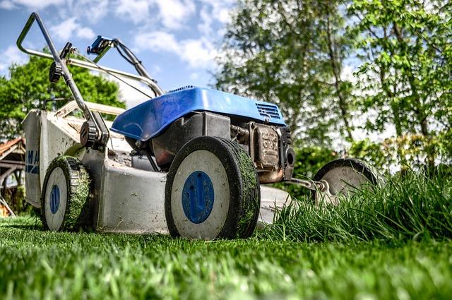 græsset bliver slået