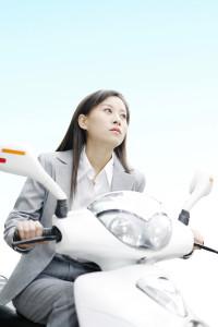 scooter i hvid